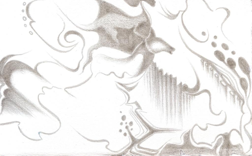 Spirits of the Chert II , silverpoint, Jeannine Cook artist