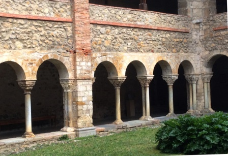 St. Lizier Cathedral Cloisters, photo J. Cook