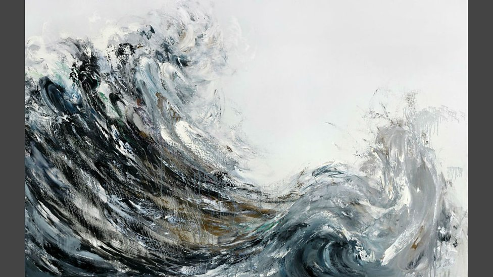 Maggi Hambling, Wave Returning, 2009, Oil on canvas, 60 x 96 inches © the artist, photo credit Douglas Atfield