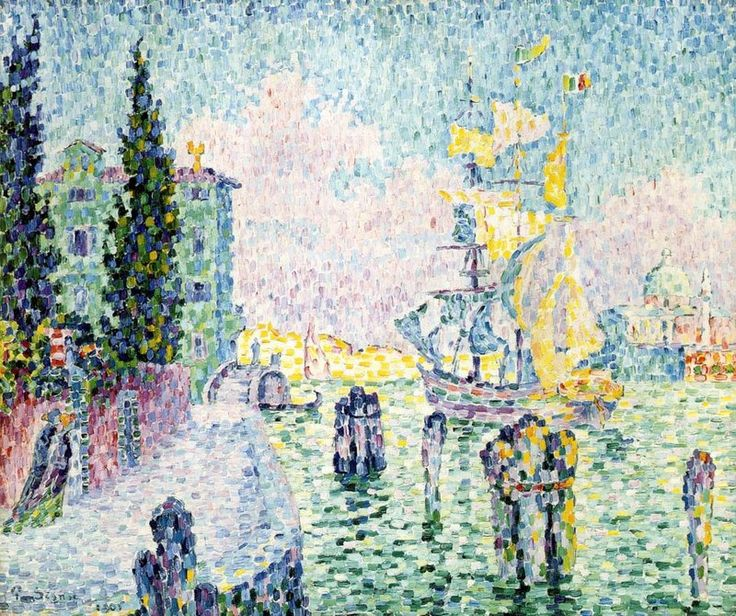 The Green House, Venice, 1905, Paul Signac, oil on canvas, Private collection. Matisse loved this painting which reminded him of Venice, and swapped it with Signac, having briefly tried painting in the same fashion.