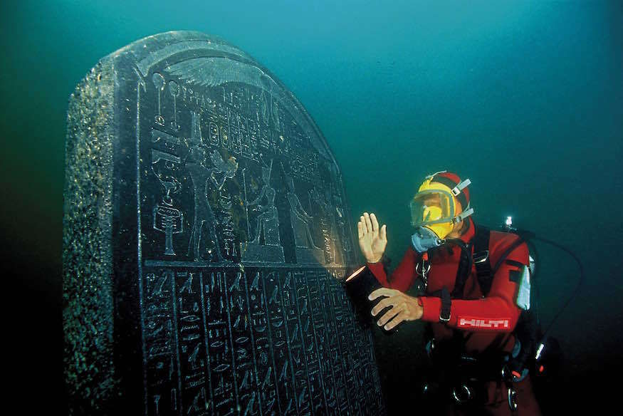 The Royal Decree of Sais, underwater