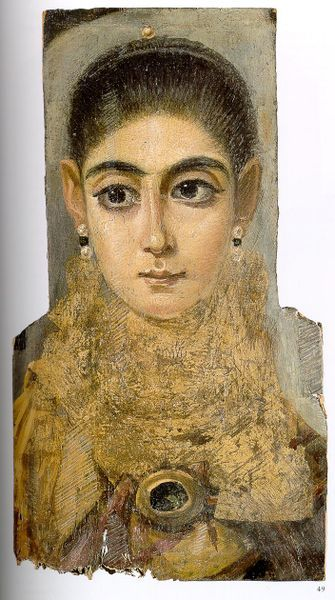 "Fayoum, Egypt Portrait of a woman, known as ""L'Européenne"", Roman Egypt (30 BC - AD 392) (Image courtesy of the Louvre)"