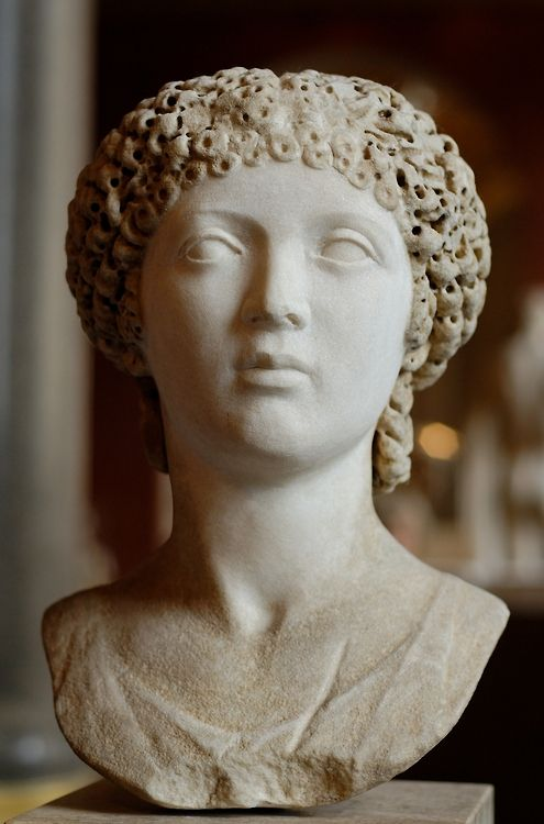 Poppaea Sabina, notorious wife of Nero. Rome, marble 55-60 AD (Image courtesy of the Louvre)