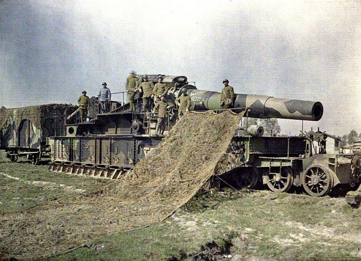 The work of French Camoufleurs, at Oise, Noyon. 1917