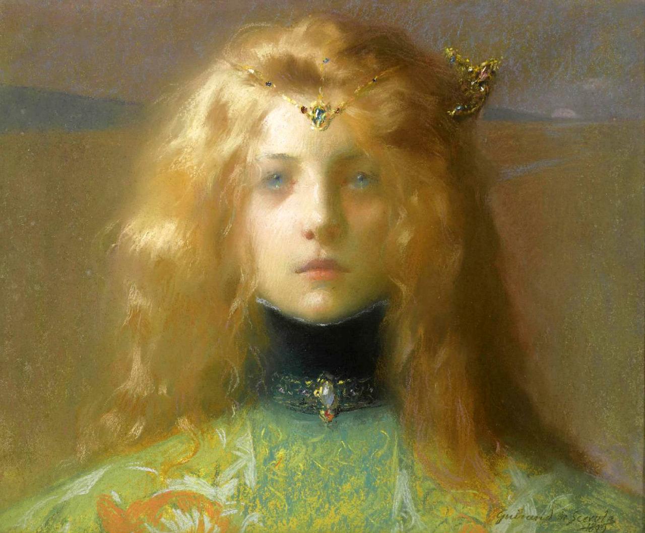 Young lady, 1899, Lucien-Victor Guirand de- Scévola