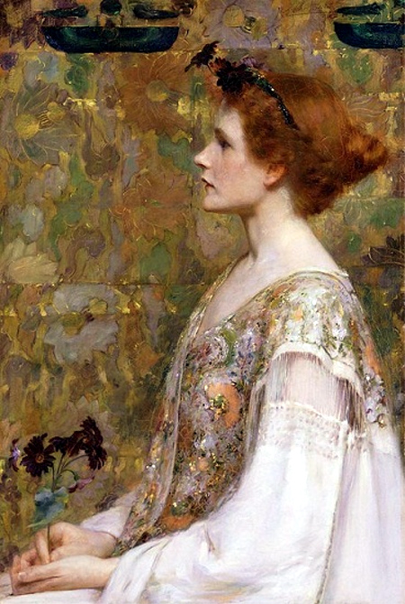 The Lady with red hair, pastel, Lucien-Victor Guirand de Scévola