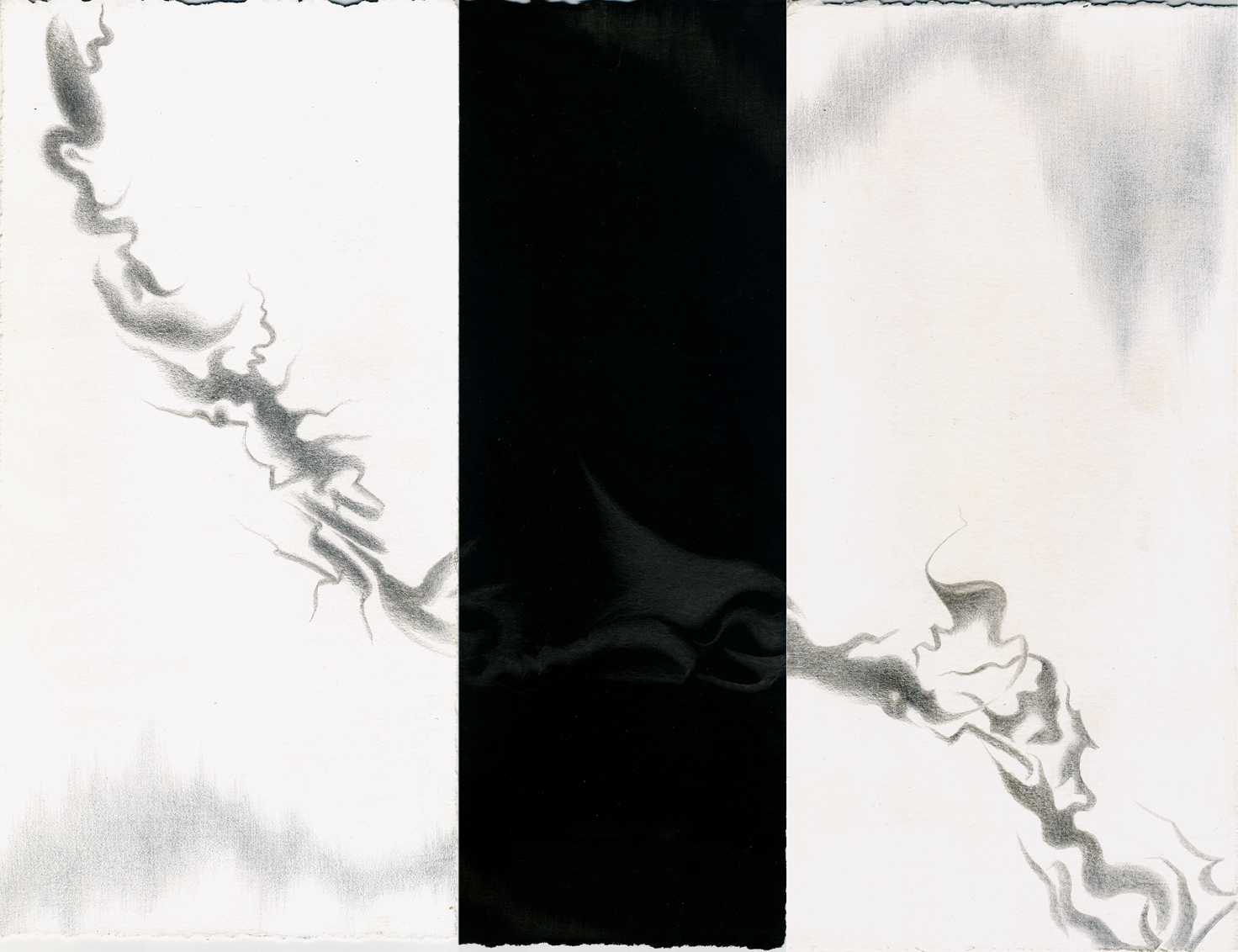 Traces IV-V-VI, silver-goldpoint, 2013, artist Jeannine Cook