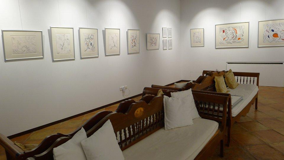 View of Sa Tafona Gallery with the show, Pensando en Miró, just hung (Image courtesy of Martin Adam, photographer)