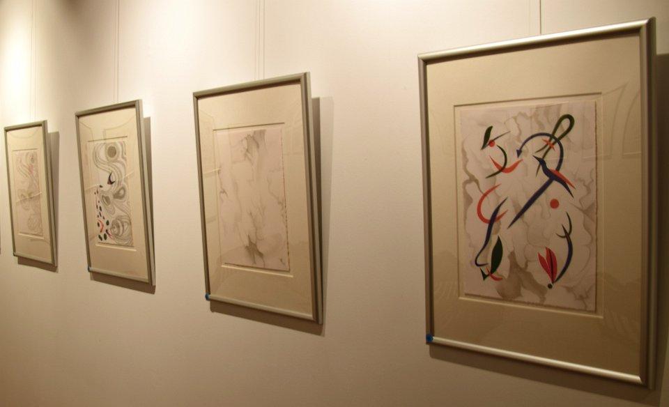 """""""Pensando en Miró :Drawings in Silver"""", Sa Tafona Gallery (Image courtesy of Martin Adam, photographer)"""