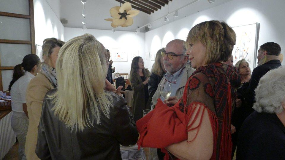 "Opening Night - ""Pensando en Miró Drawings in Silver"", Sa Tafona Gallery (Image courtesy of Martin Adam, photographer)"