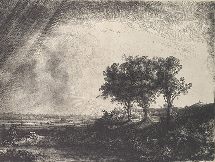 Rembrandt, The Three Trees, 1643, etching Metropolitan Museum