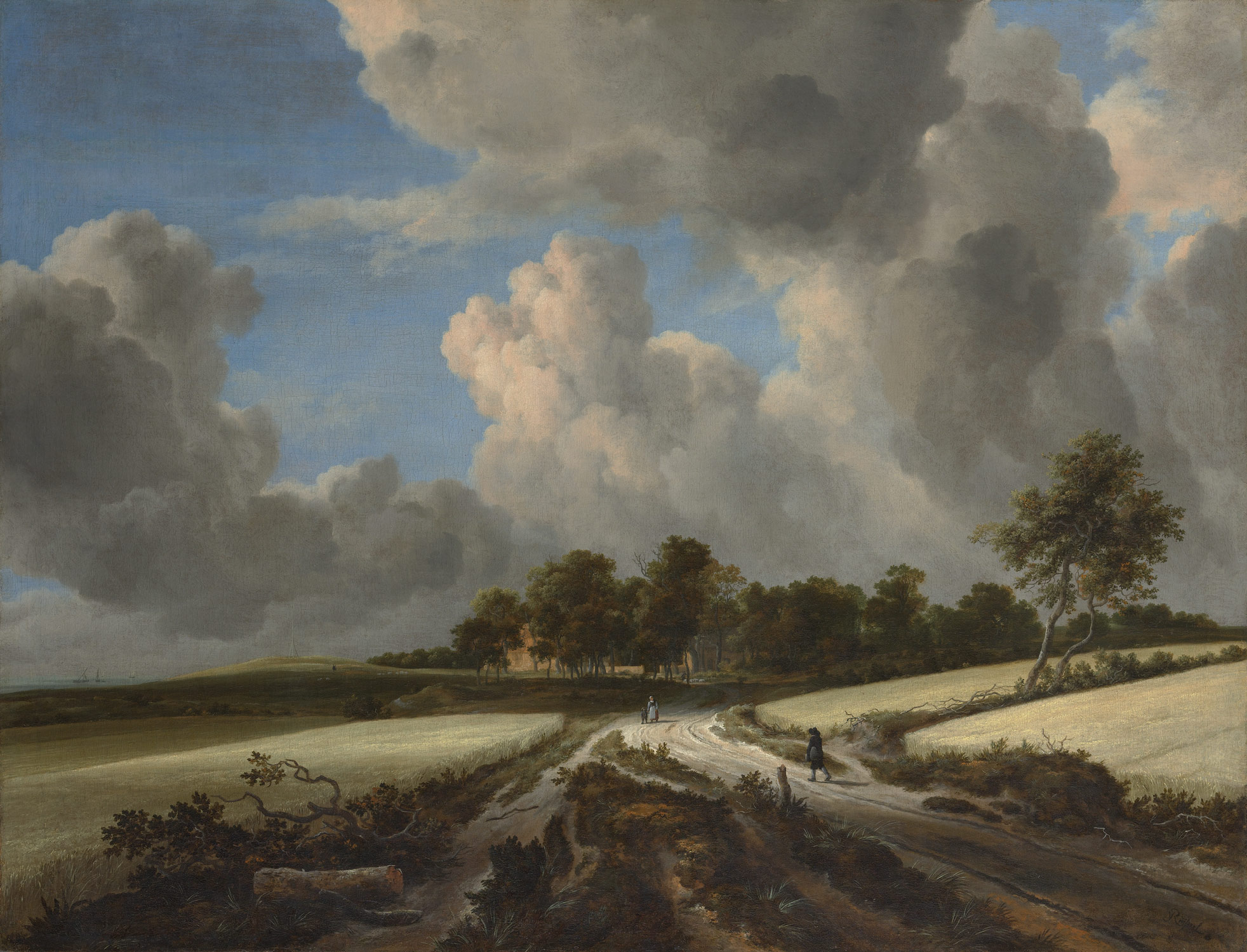 Jacob van Ruisdael Dutch, 1628-29–1682 Wheat Fields, Metropolitan Museum, New York