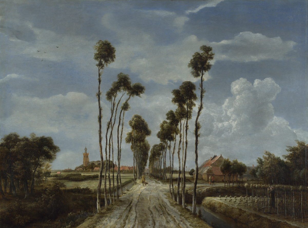 The Avenue at Middelharnis by Meindert Hobbema. Oil on canvas, 1689. National Gallery, London.