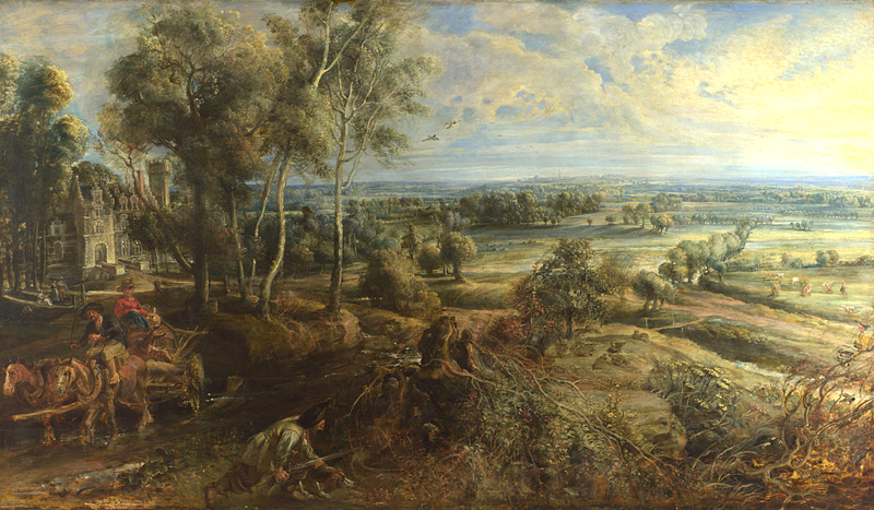 A View of Het Steen in the Early Morning c.1636, Peter Paul Rubens, National Gallery, London