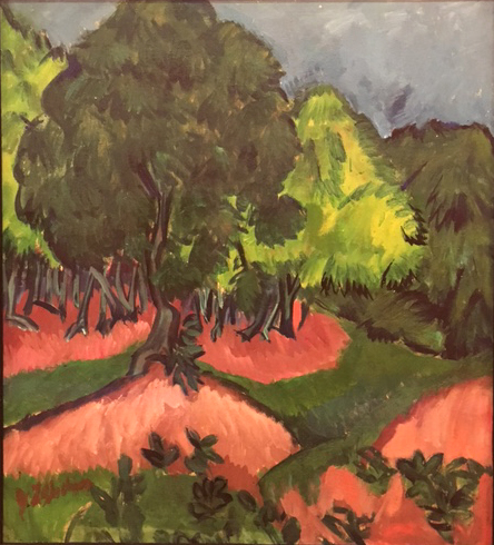 Landscape with Chestnut Tree, 1913, Ernst Ludwig Kirchner, oil on canvas, Museo Thyssen, Madrid