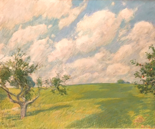 September Clouds, pastel on canvas, c. 1891, Childe Hassam, Museo Thyssen, Madrid