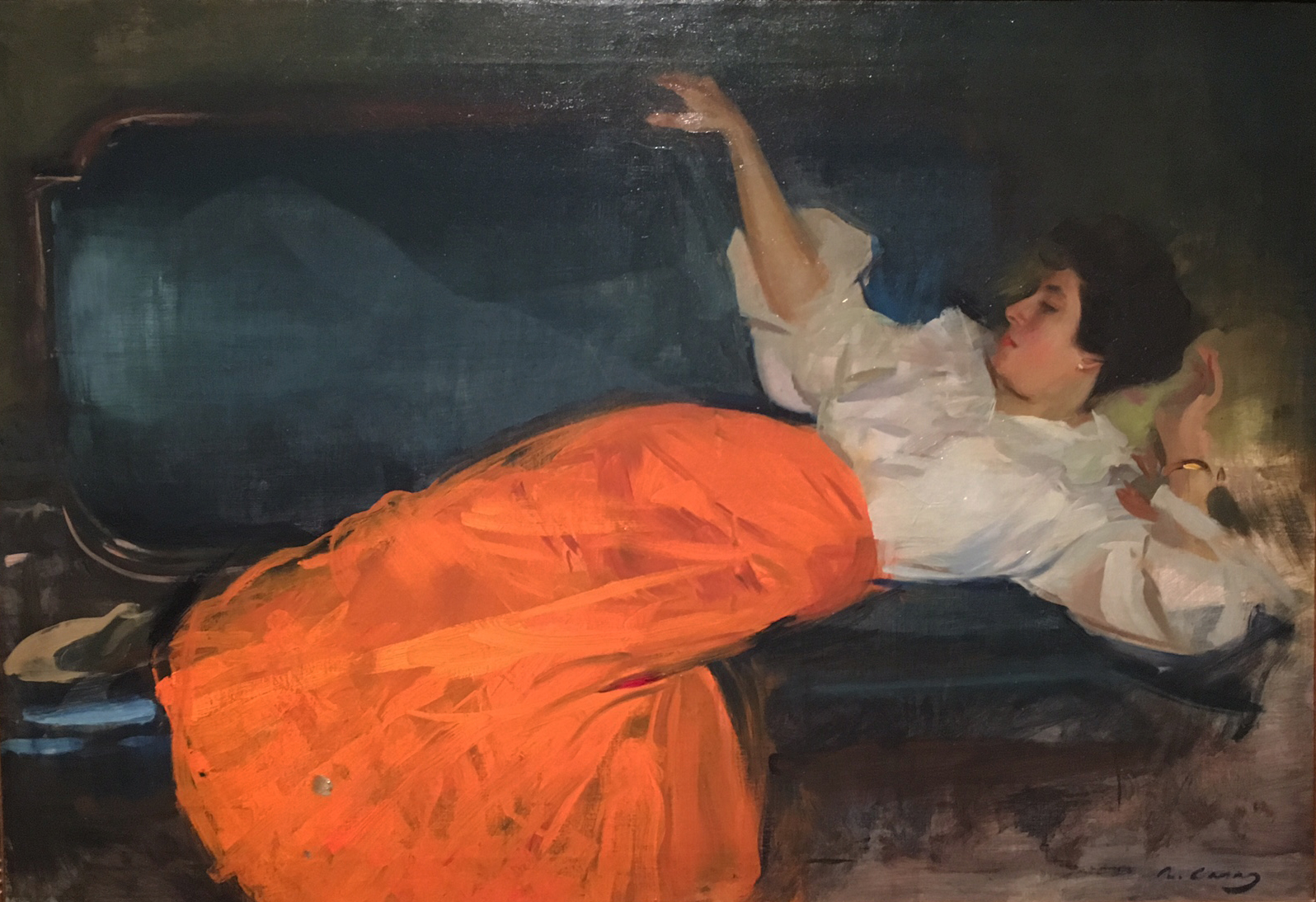 Resting Woman, oil on canvas, c. 1898, Ramon Casas