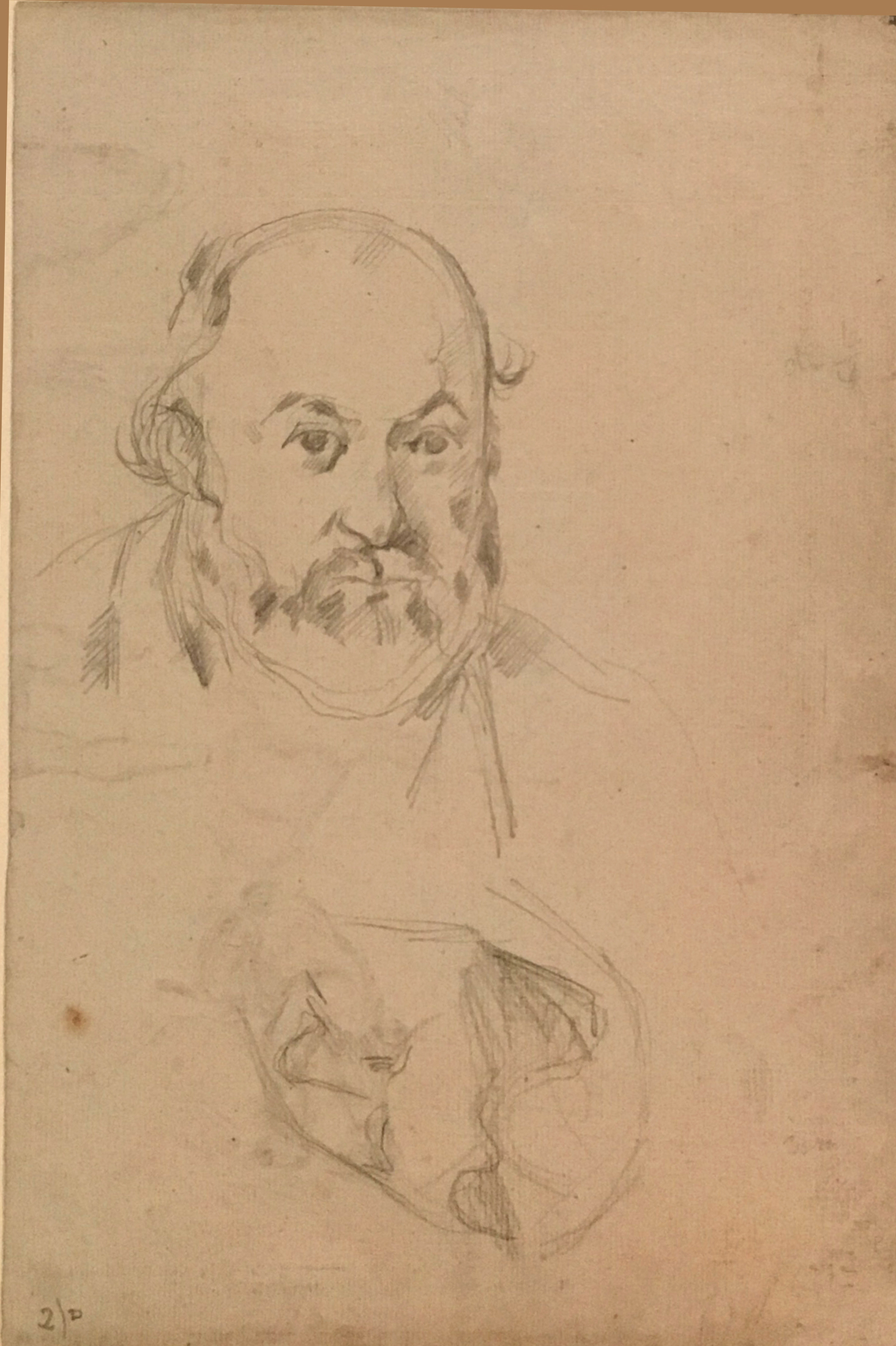 Self-Portrait, P. Cézanne, c. 1880, pencil on paper, Kunstmuseum Basel