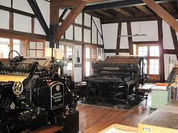 Printing presses at the Museum