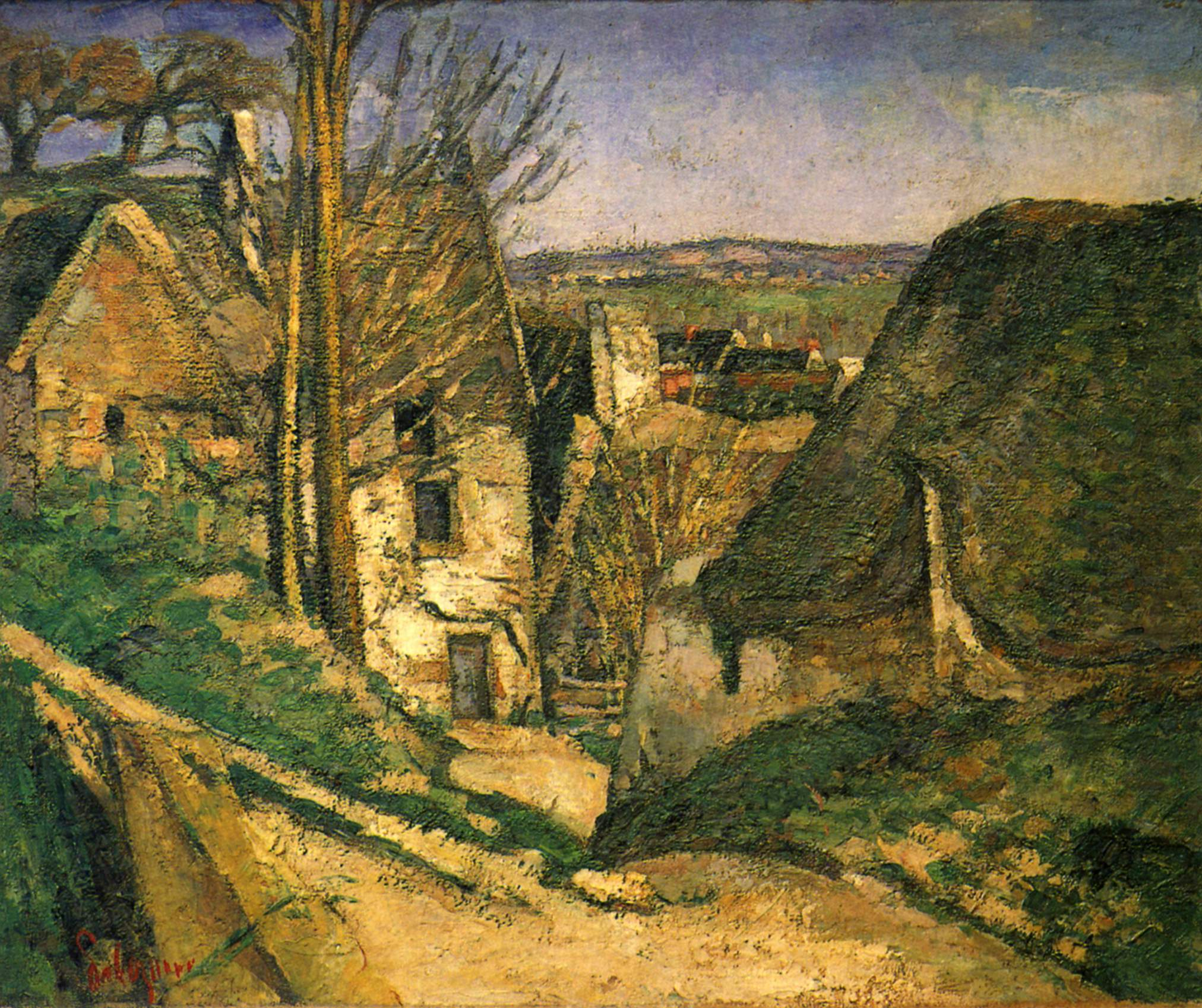 The Hanged Man's House, Auvers,  1873, Paul Cezanne. Image courtesy of the Musee d'Orsay, Paris