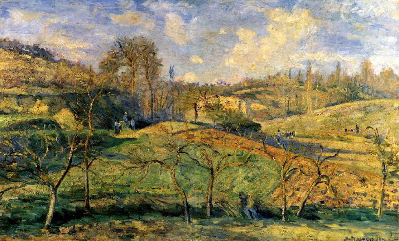 March Sun, Pontoise,  Camille Pissarro, 1875. Image courtesy of the Kunsthalle, Bremen