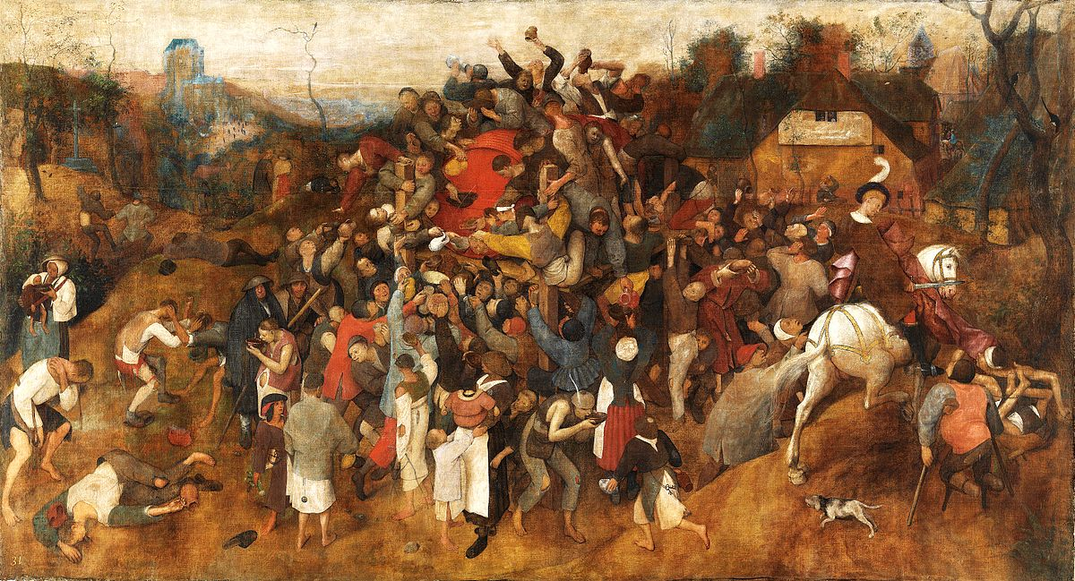 The Wine of St Martin's Day,  c. 1565-1568, Peter Bruegel the Elder.  Image courtesy of the Prado Museum, Madrid