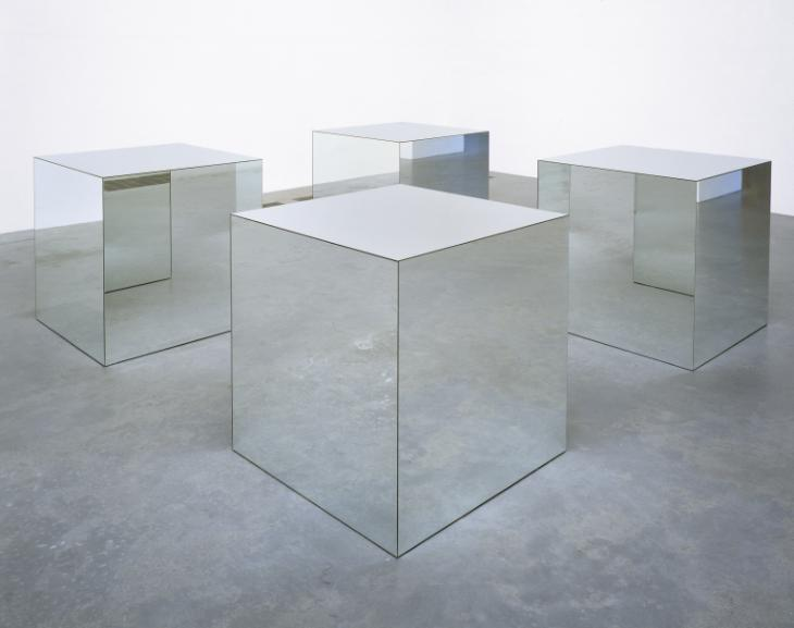 Robert Morris,Untitled, 1965-71, Mirror glass and wood.Image courtesy of Tate Modern, London