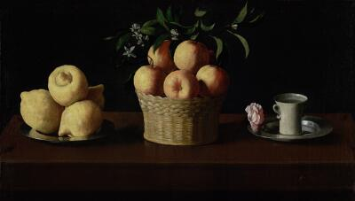 Still Life with Lemons, Oranges and a Rose , 1633, Zurbaran, (Image courtesy of the Norton Simon Museum)