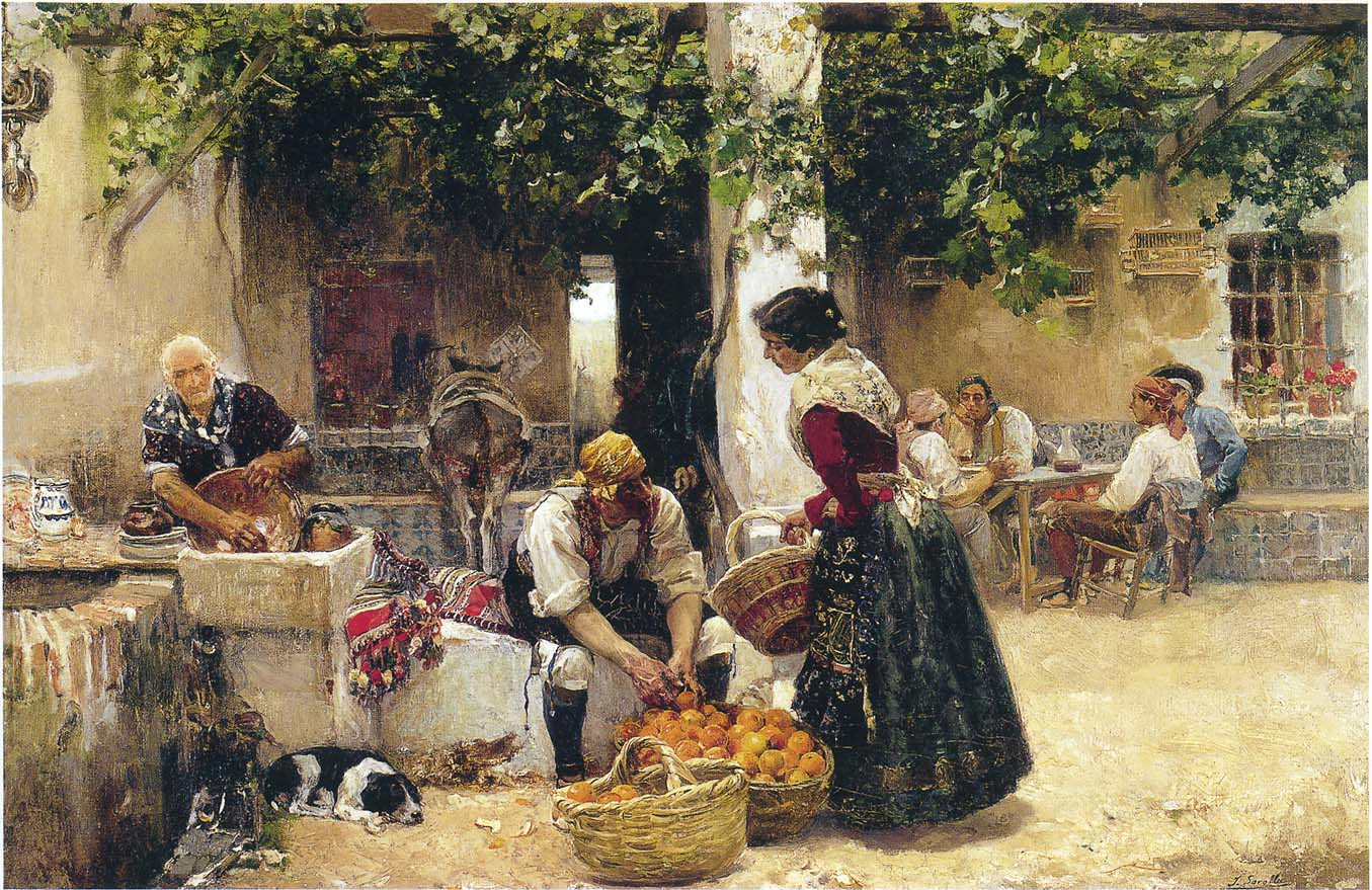The Orange Seller,   1891, Joaquin Sorolla, Private Collection