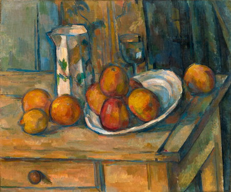 Still Life with Milk Jug and Fruit,  c. 1900, Paul Cezanne, (Image courtesy of National Gallery of Art, Washington)