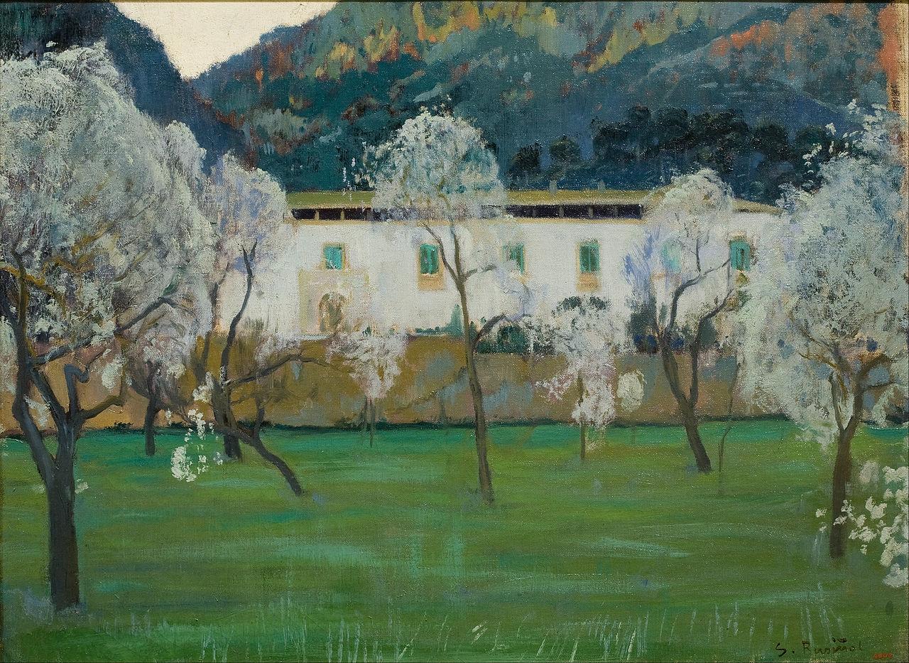Santiago Rusiñol.  White Farmhouse (Bunyola, Mallorca), 1902