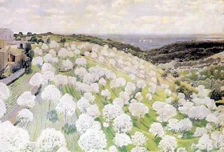 Santiago Rusiñol,  Almendros en Flor, c. 1900