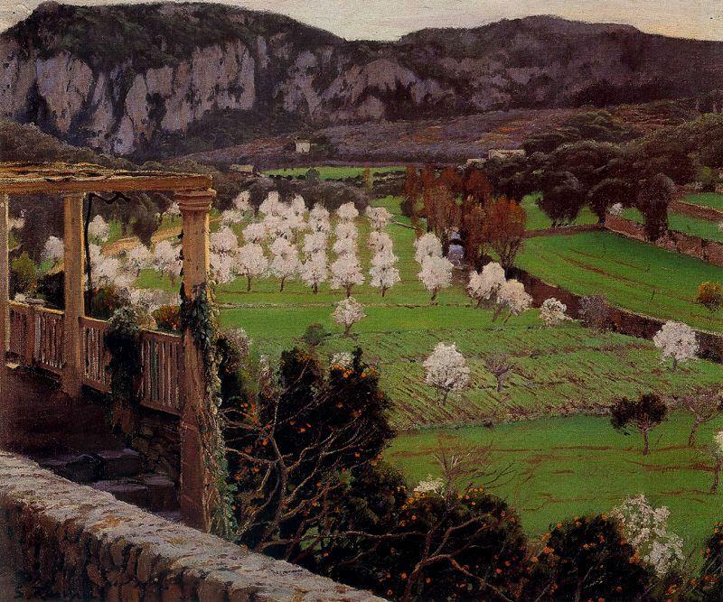 Santiago Rusiñol,  Almendros en Flor