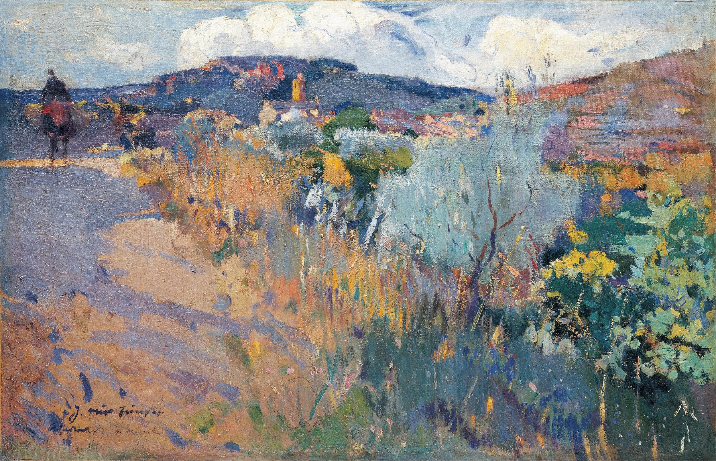 View of L'Aleixar , (c. 1915-1919), Joaquin Mir, (Image courtesy of Bilbao Fine Arts Museum)