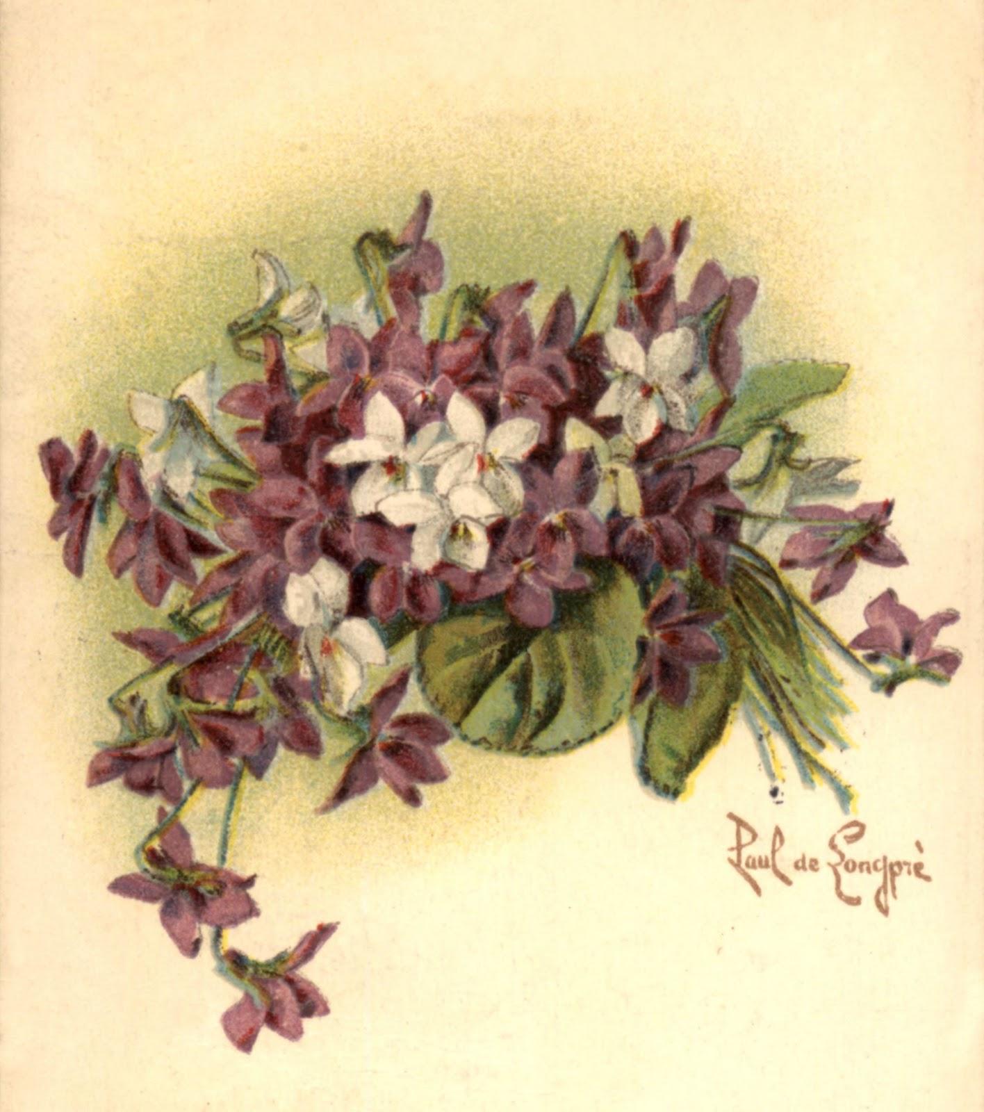 Violets,  Paul De Longpré, 1902