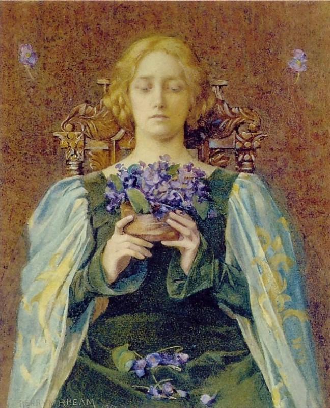 Violets,  1904, Henry Meynell Rheam, British, 1859-1920