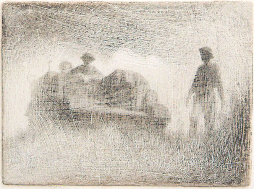 What wouldn't I give to grow old in a place like that, Roy Eastland, 2010, silverpoint on gesso