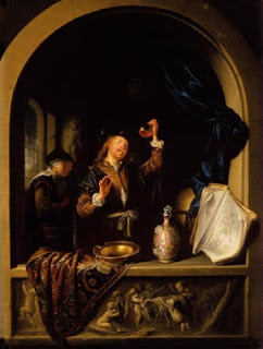 Gerrit Dou , The Physician  ,oil on copper. Image courtesy of the Christchurch Art Gallery