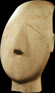 Female Head, marble. Image courtesy of N. P. Goulandris collection