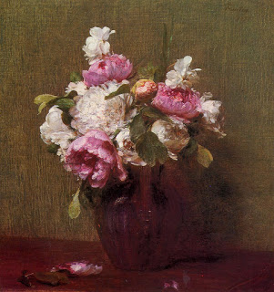 White Peonies and Roses, Narcissus, Henri Fatin-Latour, 1879, Private Collection