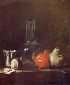Carafe of Water, Silver Goblet, Peeled Lemon, Apple and Pears, 1728, (Image courtesy of the Staatliche Kunsthalle Karlsruhe)