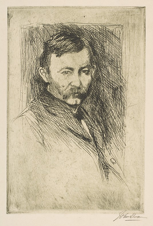 Etching of Robert Henri by Ashcan artist John Sloan 1902