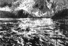 Grasmere Lake,    graphite on paper, David Tress