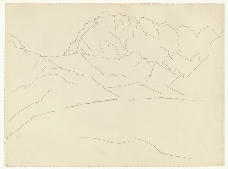 Marsden Hartley,  Mountain Landscape  , September 1933. Silverpoint on paper.