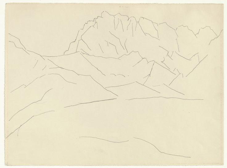 Marsden Hartley,  Mountain Landscape  , September 1933. Silverpoint on paper.