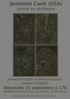 Poster for my Talk on Metalpoint at DRAWInternatioonal