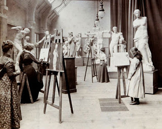 Life drawing class. c. 1890, (Photo courtesy Leeds Museums and Galleries (Art Gallery))