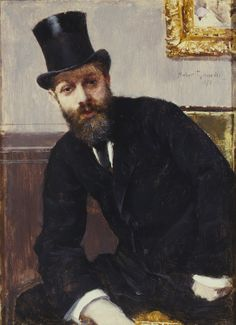 Hippolyte Fortin, oil on canvas, Norbert Goeneutte, 1879, (Image courtesy of the UK Art Museum Collecton)