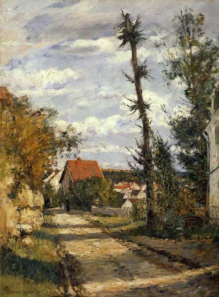 Old Road to Auvers, 1892, Norbert Goeneutte, Private collection