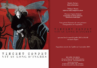 Flyer for the Ingres Museum show on Vincent Carpet